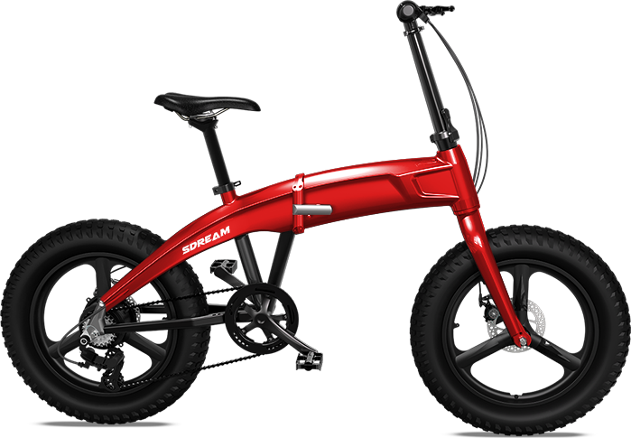 "X750 - Fat Tire Foldable Aluminum 20"" Electric Bike in 4 Colors"