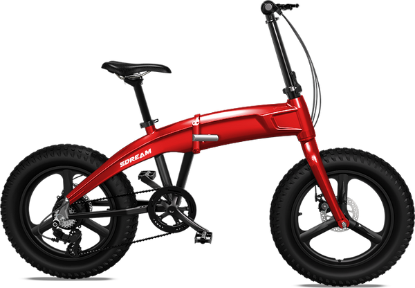 X750 - 750 Watts Fat Tire Folding Aluminum Electric Bike in 4 Colors