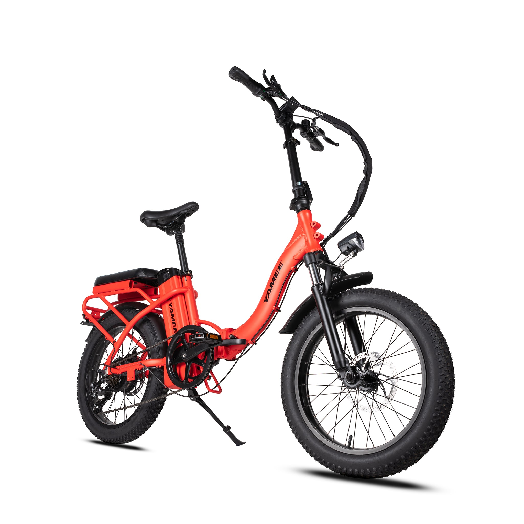 LF-500 - 500 Watts Tandem Fat Tire Folding Aluminum Electric Bike in 3 Colors (Easy Step Through)