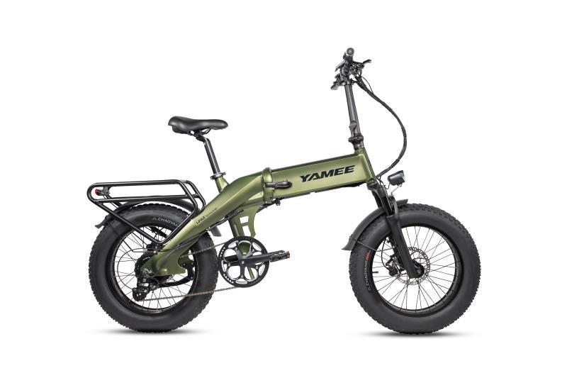 "XL - 750 Watts ""Self-Charging"" Fat Tire Folding Aluminum Electric Bike in 5 Colors"