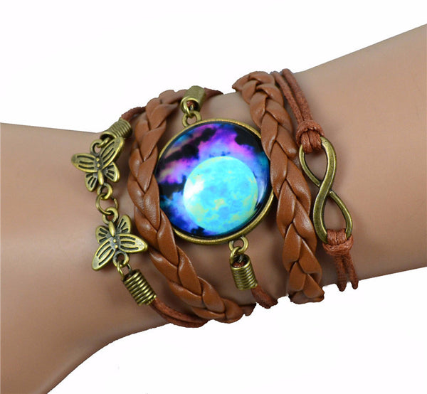 Multilayer Braided Bracelet Bangles Milky Way Galaxy