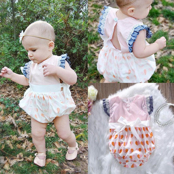 Lace Floral Ruffles Rompers