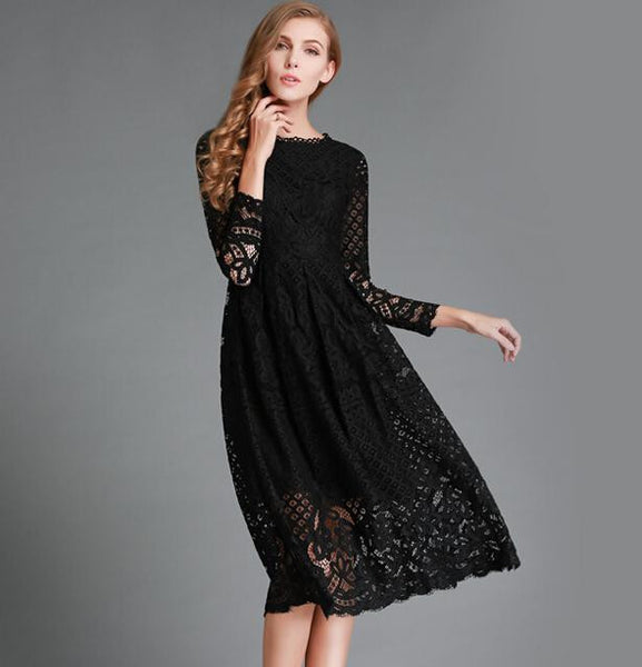 Slim Lace Long Dress