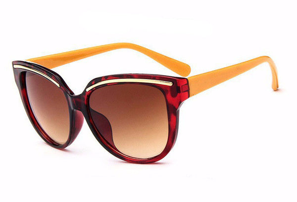 Cateye Frame Mirror Sunglasses