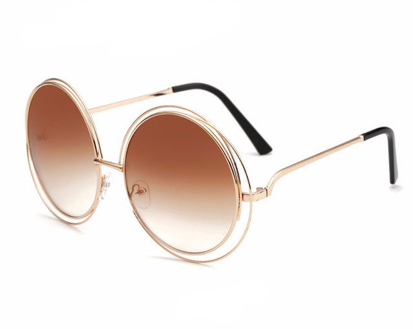 Big Retro Round Sunglasses