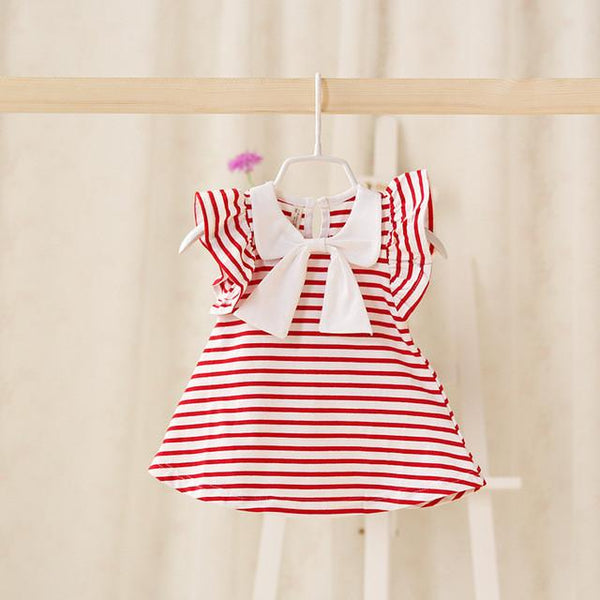 Bow striped T-shirt