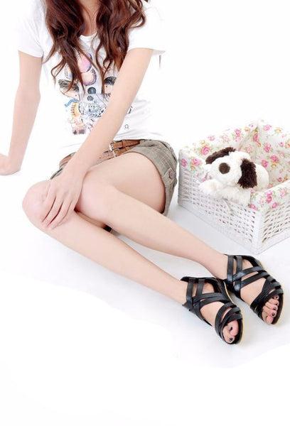 Crossing Strap Sandals