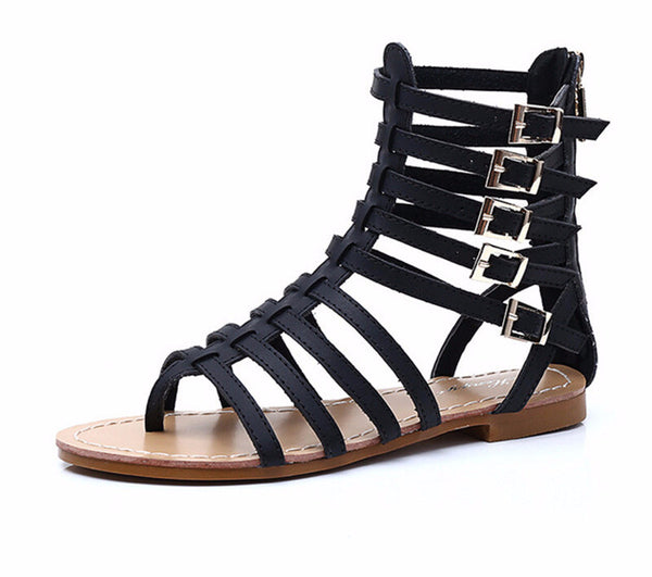 England Style Roman Buckle Gladiator Sandals