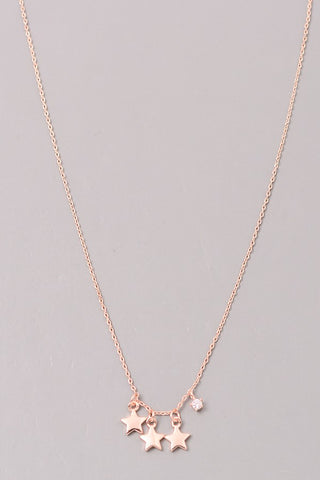 Petite Triple Star Necklace
