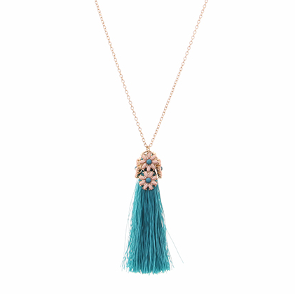 Floral Tassel Necklace