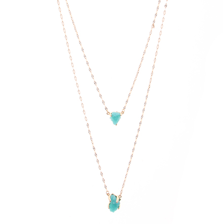 Blue Natural Stone Double Layer Necklace