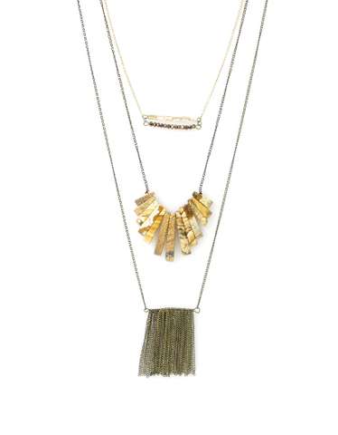Multi Layered Long Necklace