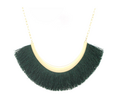 Emerld Tassel Statement Necklace