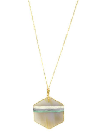 Hexagonal Pendant Necklace