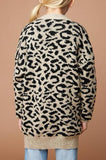 Chris Leopard Cardigan