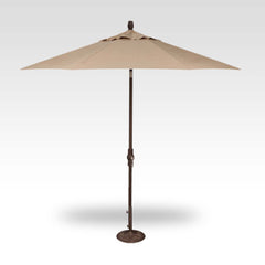9FT COLLAR TILT UMBRELLA WITH BRONZE FRAME - HEATHER BIEGE CANVAS TOP