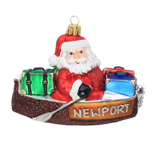 SANTA VISITS NEWPORT BEACH