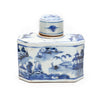 BLUE & WHITE CANTON HEX TEA JAR
