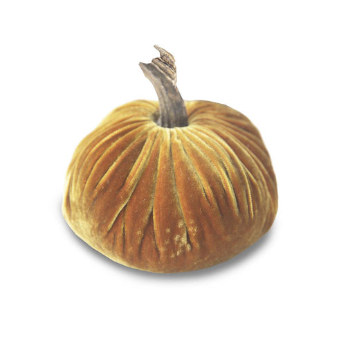 Small Curry Velvet Pumpkin 5""