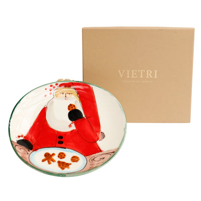 Vietri Santa's Holiday Cookie Plate