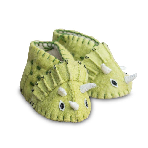 ZOOTIES INFANT BABY TRICERITOPS BOOTIES