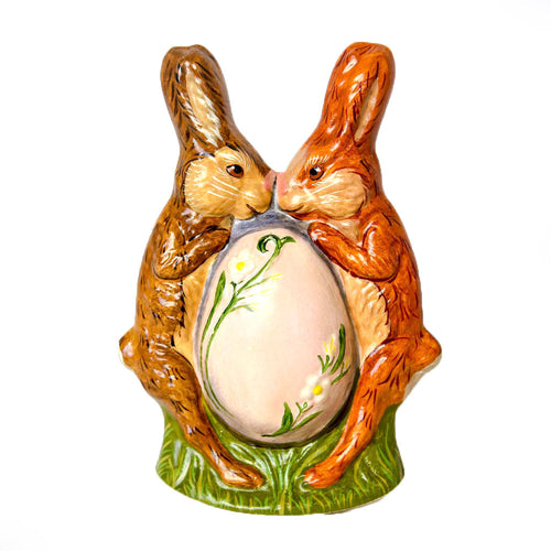 TWO RABBITS WITH LARGE EGG