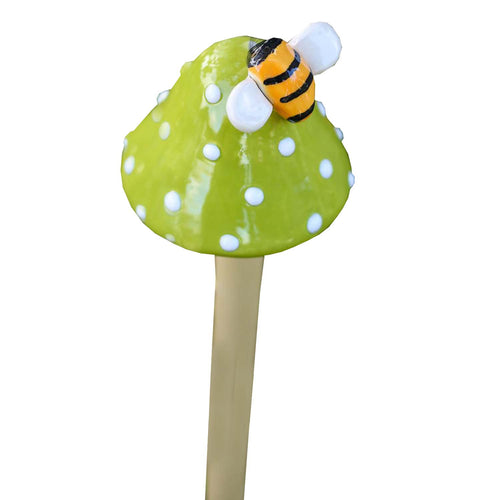 Toadstool with Bumblebee