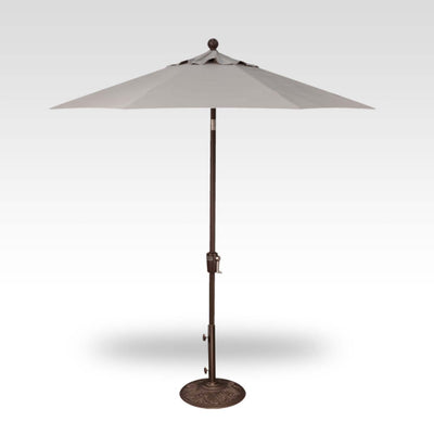 7.5FT PUSH TILT UMBRELLA WITH BRONZE FRAME - BEACON ASH GRAY CANOPY