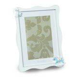 WHITE AND BLUE PHOTO FRAME FOR BABY