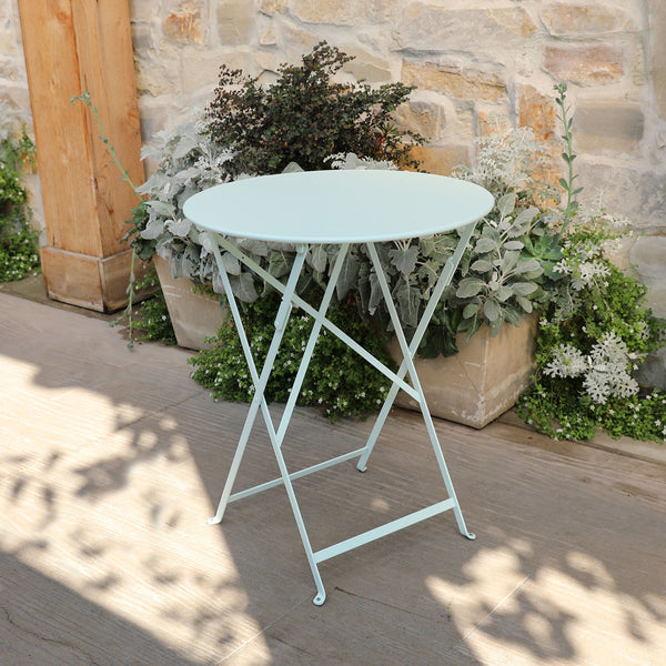"24"" Folding Bistro Table- Ice Mint"