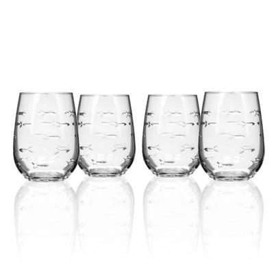 School Of Fish Wine Tumbler Set