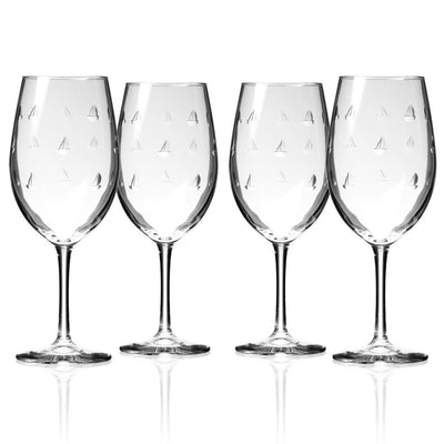 Sail Boat Wine Glass Set