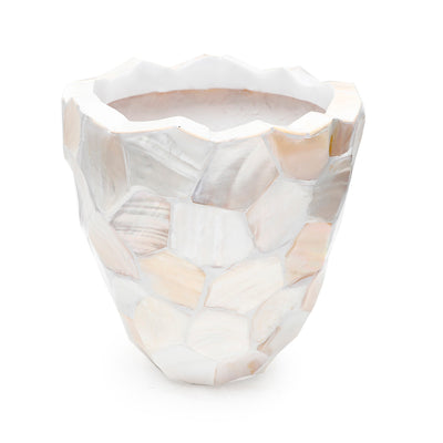 Hex Cut Mother of Pearl Planter