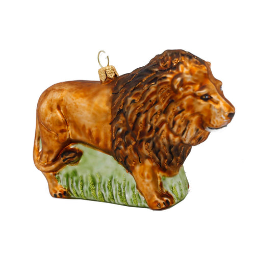 LION GLASS ORNAMENT
