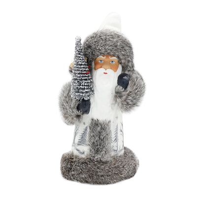 Bearded White Santa With Fur