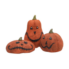 Halloween Mini Happy Pumpkins - Set of 3
