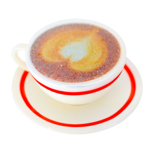 CAPPUCCINO COFFEE GLASS CLIP ORNAMENT