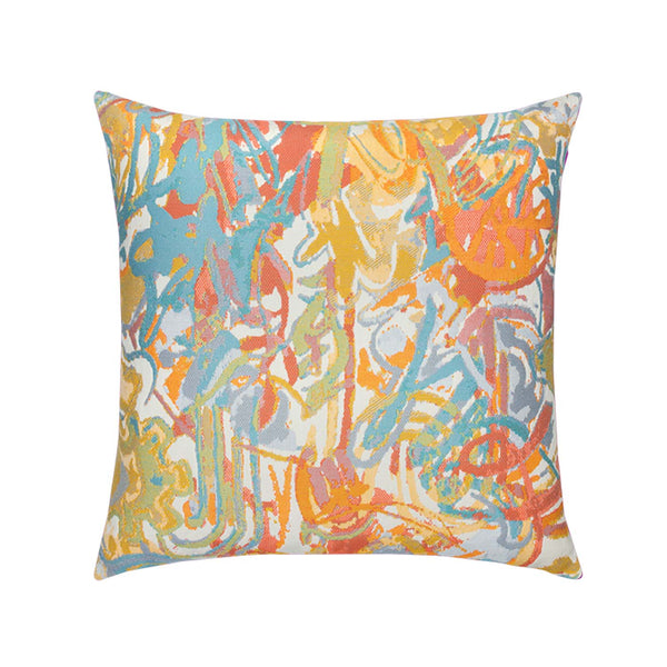 "20"" Graffiti Coastal Outdoor Pillow"