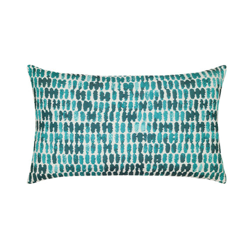 "12"" x 20"" Thumbprint ""Aruba"" Outdoor Lumbar Pillow"