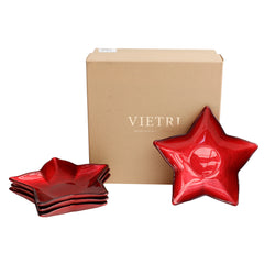 Vietri Festive Red Star Dish Set