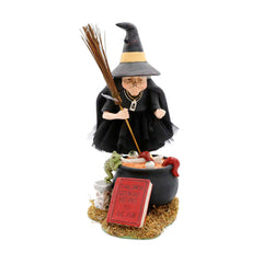 Hand Painted With Artisan Detail - Halloween Cauldron Cooking Witch