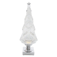 Flocked Shimmer Christmas Tree