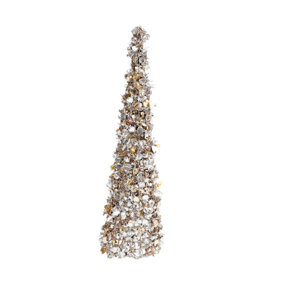 Sm Champagne Sequin Christmas Tree