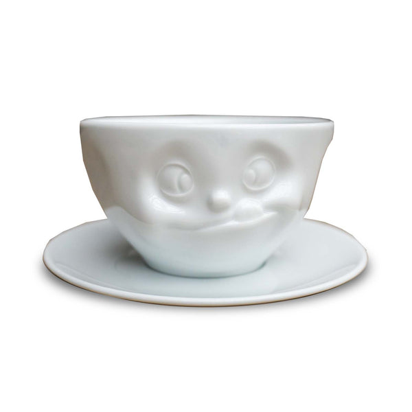 PORCELAIN FACE COFFEE CUP SAUCER