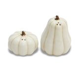 WHITE PUMPKIN SALT AND PEPPER SHAKERS
