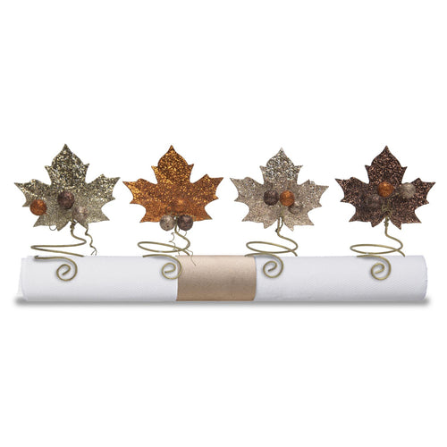 Leaves Napkin Holders - Set of 4