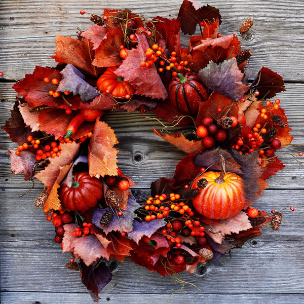 "30"" Cabernet Fall Silk Wreath"