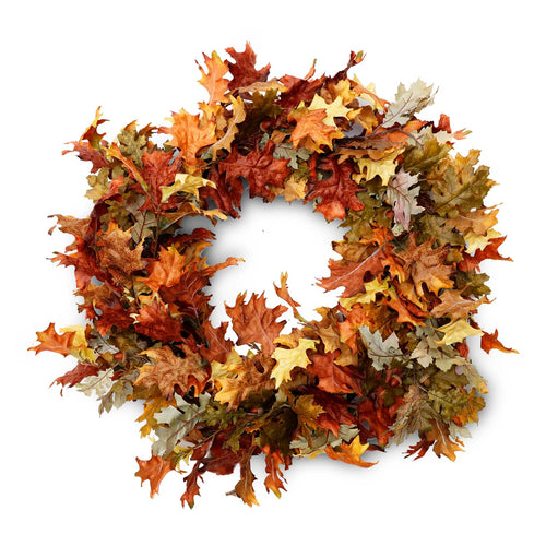 "30"" Oak Leaf Fall Silk Wreath"