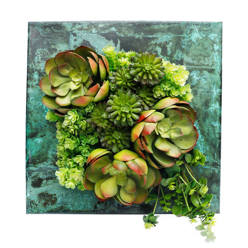 SUCCULENT  ZINC SQUARE WALL PLANTER