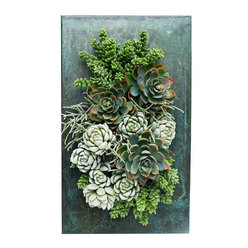 SUCCULENT ZINC WALL PLANTER - SILK